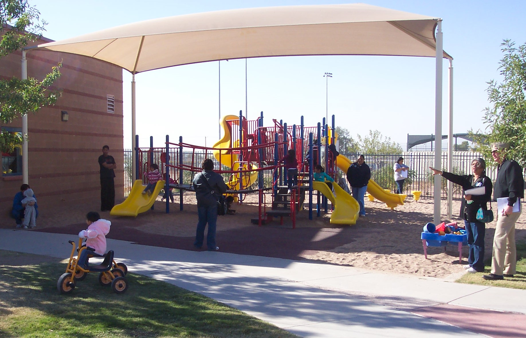 Shade at a play space